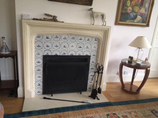 Antique Dutch Delft Wall Tiles With, Delft Fireplace Tiles