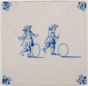 Hoop rolling, c. 1750