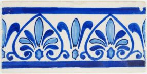 Antique Delft border tile with a Parthenon inspired greek ornament, 19th century