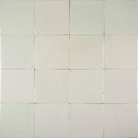 Delft plain white wall tiles - Warm mix