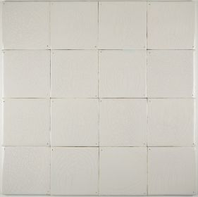 Plain white Delft tiles handmade reproductions - Single shade 17D