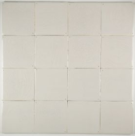 Plain white Delft tiles handmade reproductions - Single shade 17E