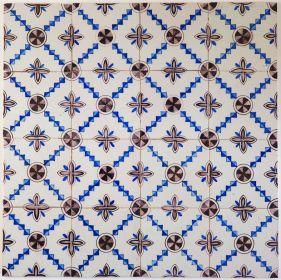 Antique Delft ornament tile known as 'Carre', 19th/20th century