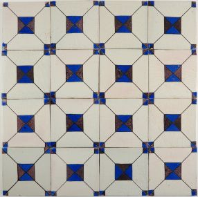 Antique Delft wall tiles with Crystal Stone II, 19th century