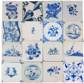 Mix of aged tiles, 18th/19th century