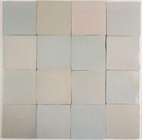 Original antique Dutch Delft plain white wall tiles
