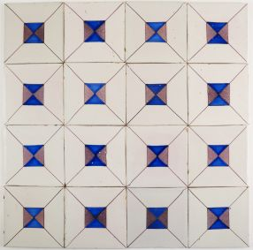 Antique Delft wall tiles with Crystal Stone pattern, 19th century