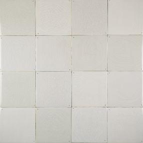Delft plain white wall tiles - Grey mix