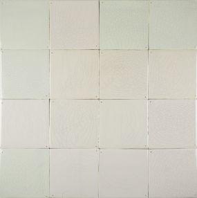 Delft plain white wall tiles - Warm mix