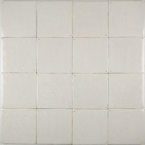Plain white Delft tiles handmade reproductions - Single shade 17H