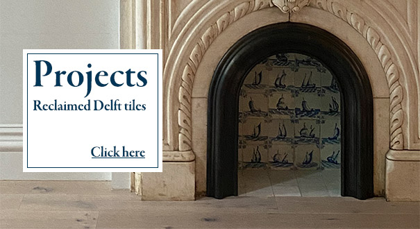 Projects with antique Delft tiles