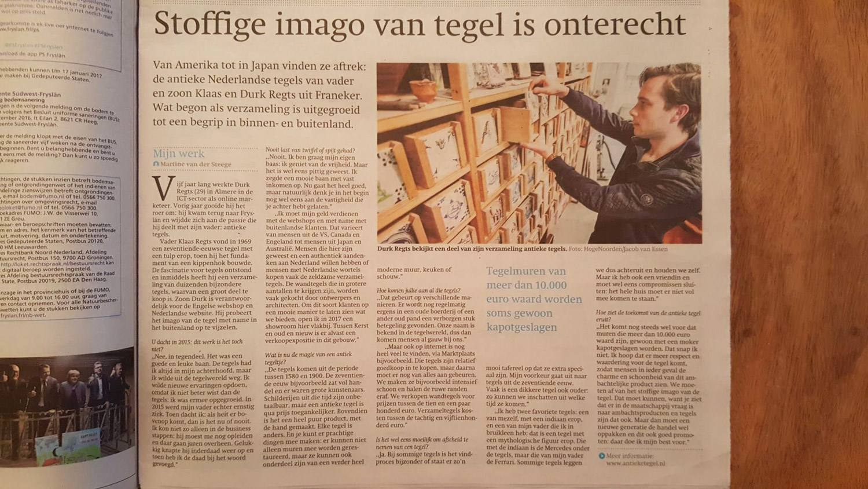 Durk Regts interview Friesch Dagblad