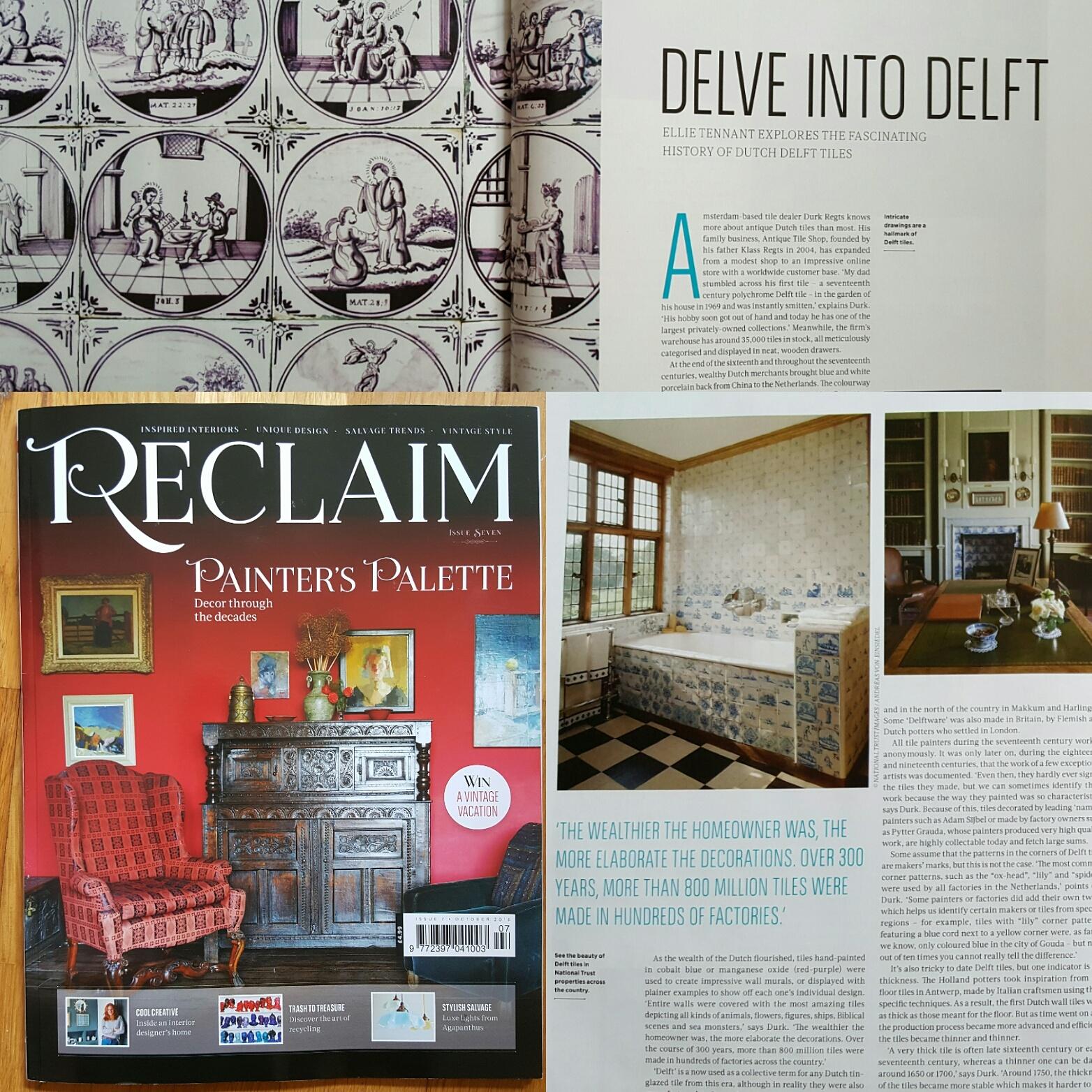 Antique Tile Shop in RECLAIM Magazine